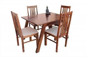 4 seater jombri dining table with vernal upholstery chair