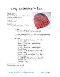 Newborn Knit Hat Pattern Interesting Inspiration Design