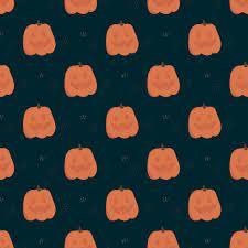 Halloween seamless pattern. Orange cute ...