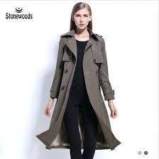 plus size long pea coat trench for women style double ted slim basic coats windbreaker winter plus size long pea coat black coats for women