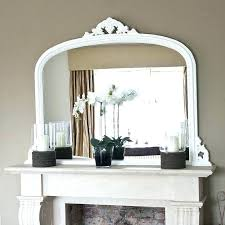 mirror over fireplace mantel mirrors mantels inside brick for