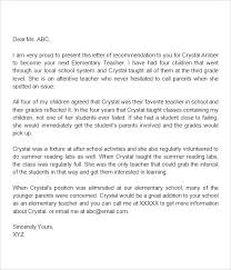 Samples Of Letters Of Recommendation For Teachers Resume Us New