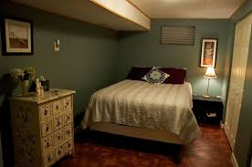 Bedroom:Delightful Basement Bedroom Ideas With Brown Ceramic Flooring Also  Floral Pattern Chest Drawers Delightful