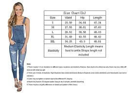 Womens Jumpsuit Size Chart Dearlove Womens Washed Distressed Jeans Overalls Cross Back Dungarees Jumpsuit Uk 6 22