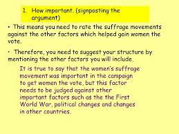 how important were the activities of the women s suffrage movement  4 how important