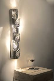 modern lamp unusual design wall light leaves