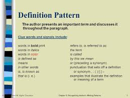 Pattern Synonym Unique Chapter 48 Recognizing Author's Writing Patterns Ppt Download