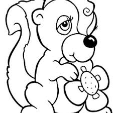 Small Picture Skunk Coloring Pages Fabulous Pinocchio Outline With Images About