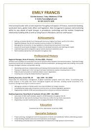 91 Bank Resume Template Banking Resume Example Top Templates