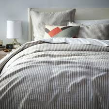 striped duvet cover grey striped duvet cover attractive stripe set cotton thread count white intended for striped duvet cover