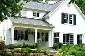 Good White Painted Brick House Ideas White Painted Brick House