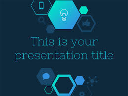 Temas Powerpoint With An Hexagons And Icons Pattern This Free Presentation