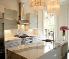 Marble Tile Backsplash Kitchen White Marble Backsplash Kitchen Transitional With Floral