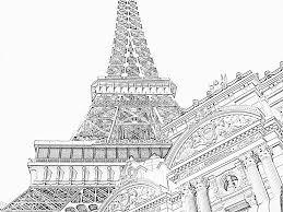 Coloriage Tour Eiffel Opera Imprimer Pour Les Enfants Dessin