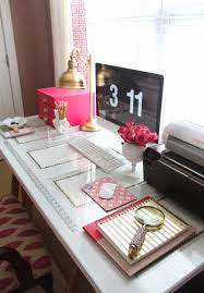 pink home office. Glamour Inspired Female Home Office Workspace Design And Decor Ideas Glam Gold Pink Modern Stylish Cute