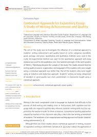 How To Start An Expository Essay Pdf Contextual Approach For Expository Essay A Study Of