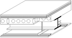 precast units on steel beams structural floor