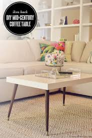Mid Century Modern Coffee Table. Remove the boring wood legs of the IKEA LACK  coffee