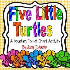 Five Little Turtles A Counting Pocket Chart Activity