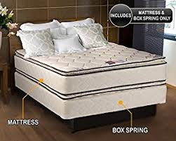 double sided pillow top mattress. Hollywood Coil Comfort Double Sided Pillowtop Queen Size Mattress And Box Spring Set Pillow Top