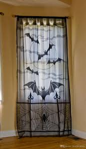 Lace Window Treatments 2017 Halloween Lace Decor Jacquard Knitted Rose Lace Curtains With
