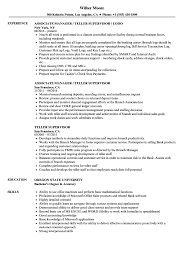 Resume For Teller Position Teller Supervisor Resume Samples Velvet Jobs