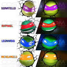 Tmnt 3d Light Teenage Mutant Ninja Turtles 3d De Football Lights 3d