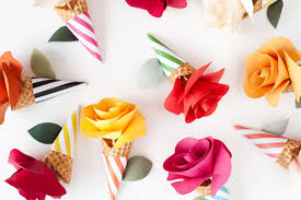 How To Make Paper Cones For Flower Petals Diy Paper Flower Cone Bouquets
