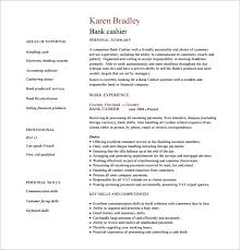 Resume Pdf Enchanting Cashier Resume Template 60 Free Word Excel PDF PSD Format