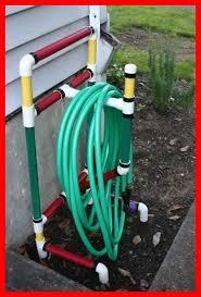 pvc pipe garden hose holder garden