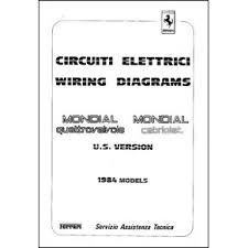 wiring diagrams pdf ferrari automobilia maranello literature 1984 ferrari mondial quattrovalvole cabriolet wiring diagrams 317 84 pdf it uk