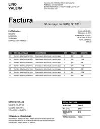 Formatos De Factura Plantillas Para Facturas Gratis En Formato Word