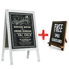 large chalkboard frame wedding sign a standing sidewalk vintage sandwich framed calendar hobby lobby frameless magnetic