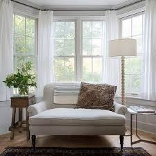 heather gray roll arm settee in bay window bay window drapes r31
