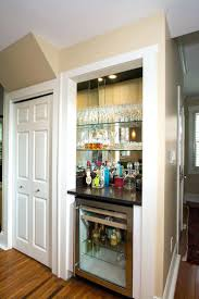 closet turning a closet into a pantry turning a closet into a bar living room