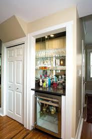 closet turning a closet into a pantry turning a closet into a bar living room