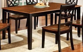 Torrington Black And Cherry Rectangular Extendable Leg Dining Room