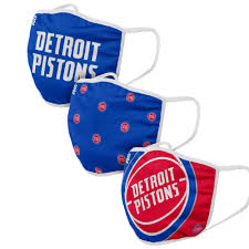 Detroit Pistons 3 Pack Face Coverings ...