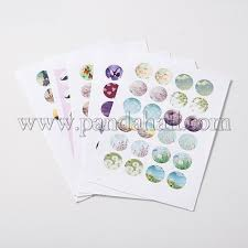 diy sbooking bottle caps non adhesive paper picture stickers collage sheets for clear flat round
