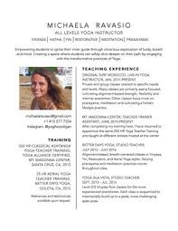 Yoga Teacher Resume Michaela Ravasio Yoga Instructor Resume By Michaela Ravasio Issuu