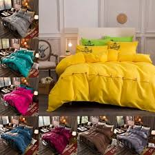solid yellow fuchsia duvet cover comfort bs27 19 colors bedding covers with ons flat sheet pillowcase