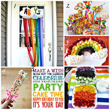2 Year Birthday Themes Rainbow Themed Birthday Party Ideas Life A Little Brighter