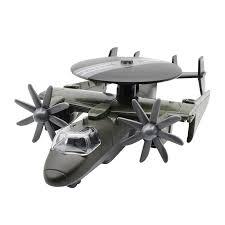 蒂雅多鹰眼预警机模型儿童玩具飞机合金仿真航母舰载机