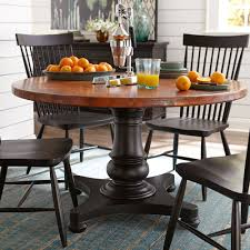 54 round copper top dining table