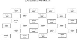 Class Seating Chart Template Landscape