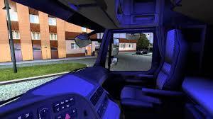 Ets Light Mercedes Mercedes Actros Interior Light Blue Ets 2 Mod