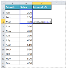 Excel Rolling Average Chart How To Calculate A Rolling Average In Excel Excelchat