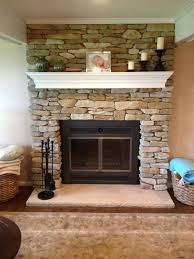 refacing brick fireplace with glass stone