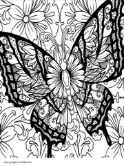 These free, printable butterfly coloring pages of various butterflies provide hours of fun for kids. 30 Butterfly Coloring Pages For Adults New