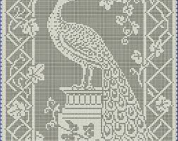 Filet Crochet Patterns Gorgeous Filet Crochet Etsy